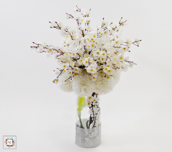 White Art (Artificial Flowers)