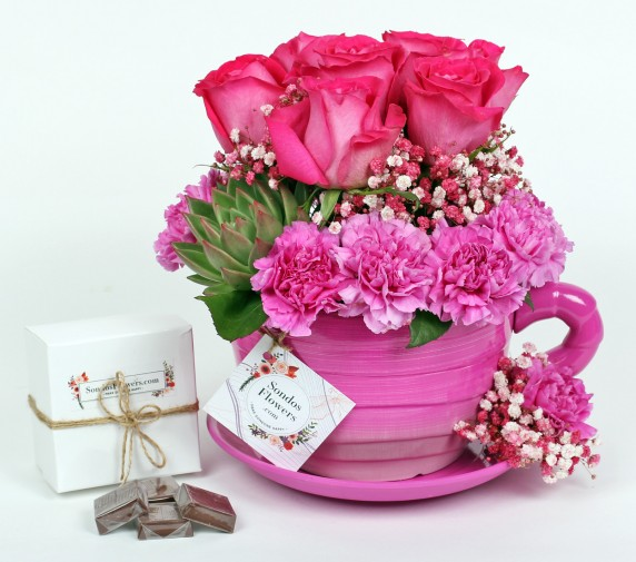Sipping Flowers Pink