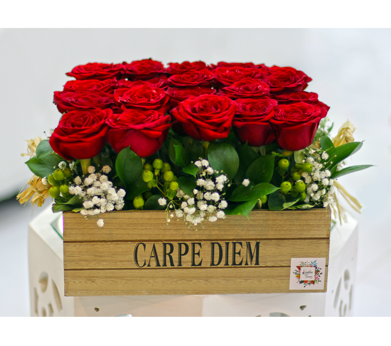 Roses in a Box | Send Fresh Flowers Gifts Online Kuwait | Sondos Flowers
