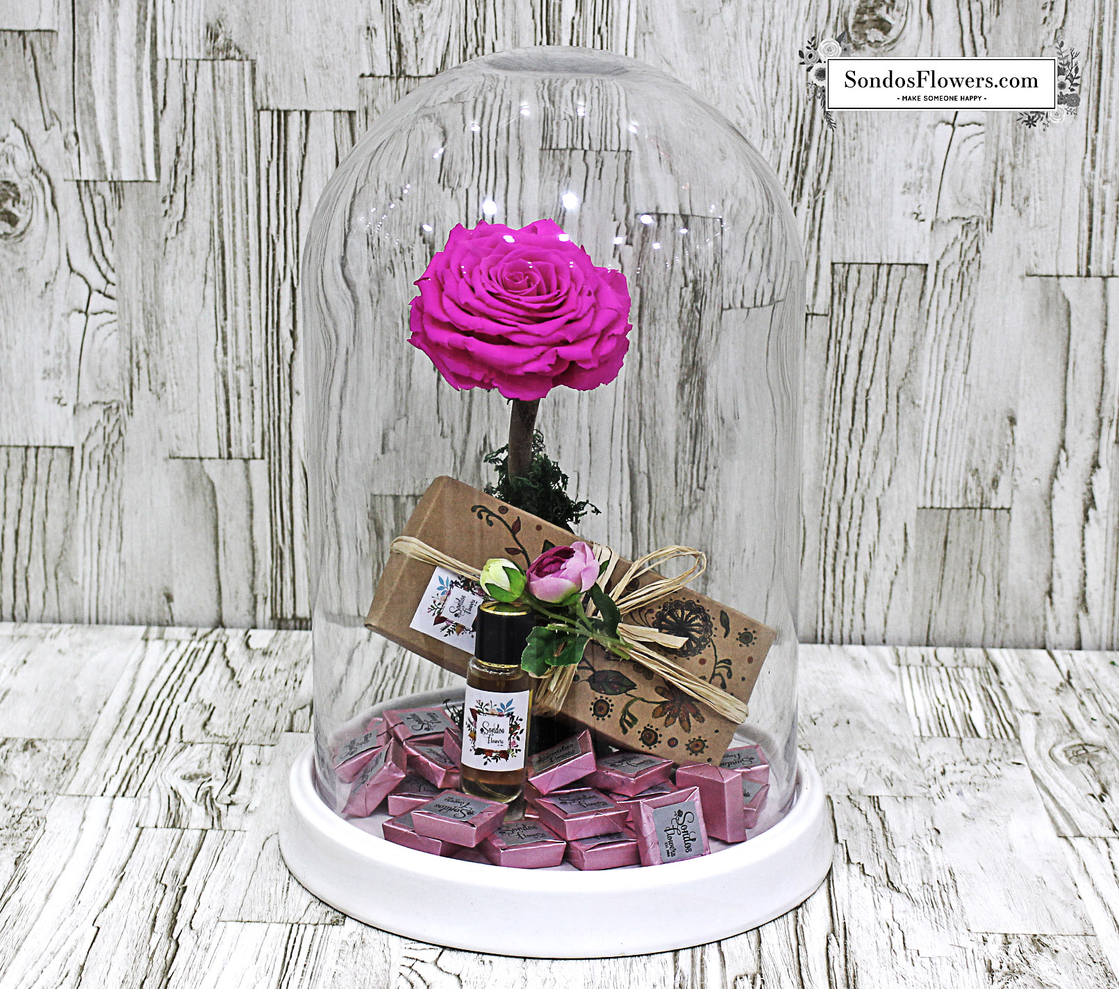 Fuchsia Pink Rose Long Life Send Fresh Flowers Gifts Online