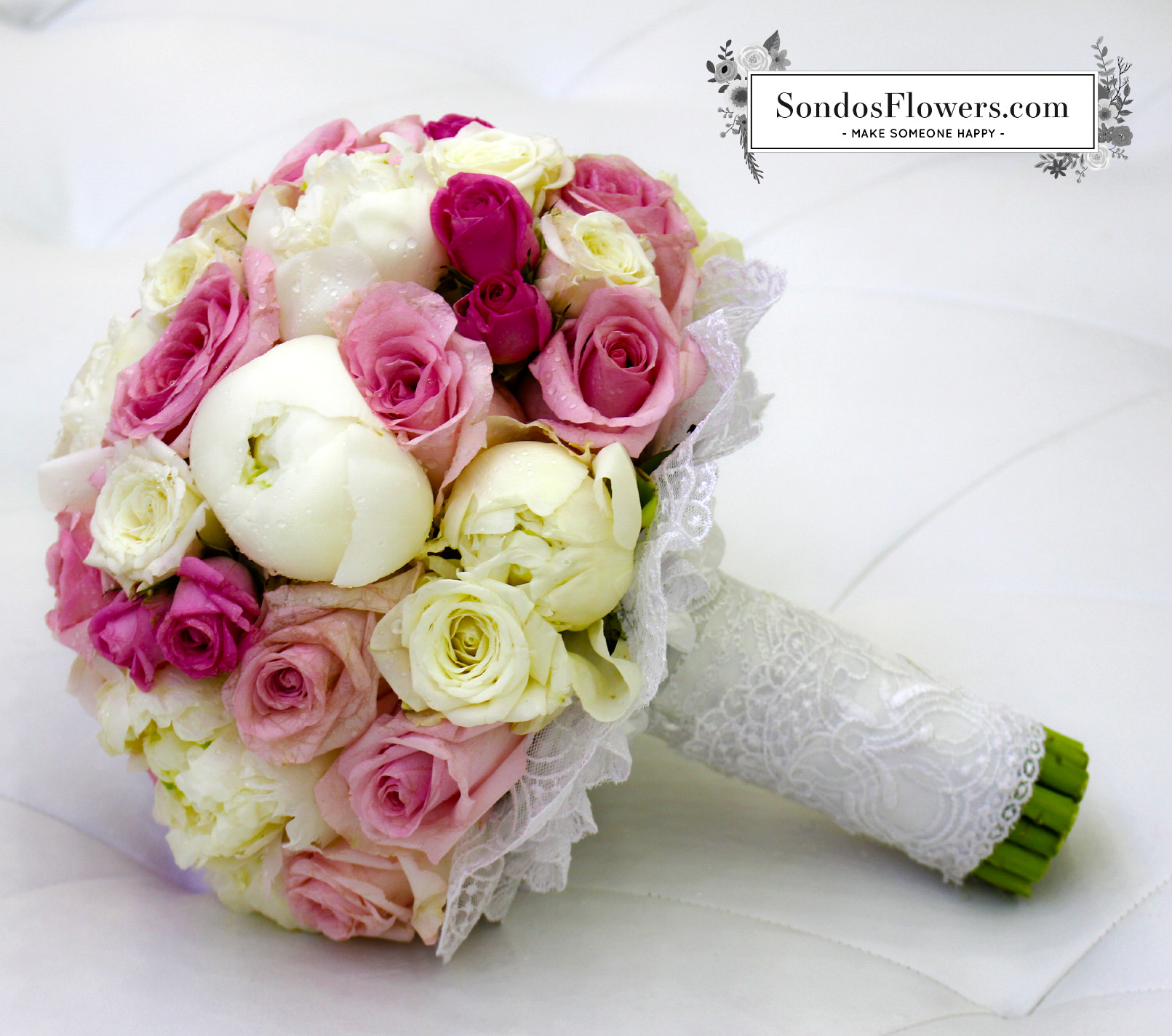 Bridal Bouquets 56 | Send Fresh Flowers Gifts Online Kuwait | Sondos ...