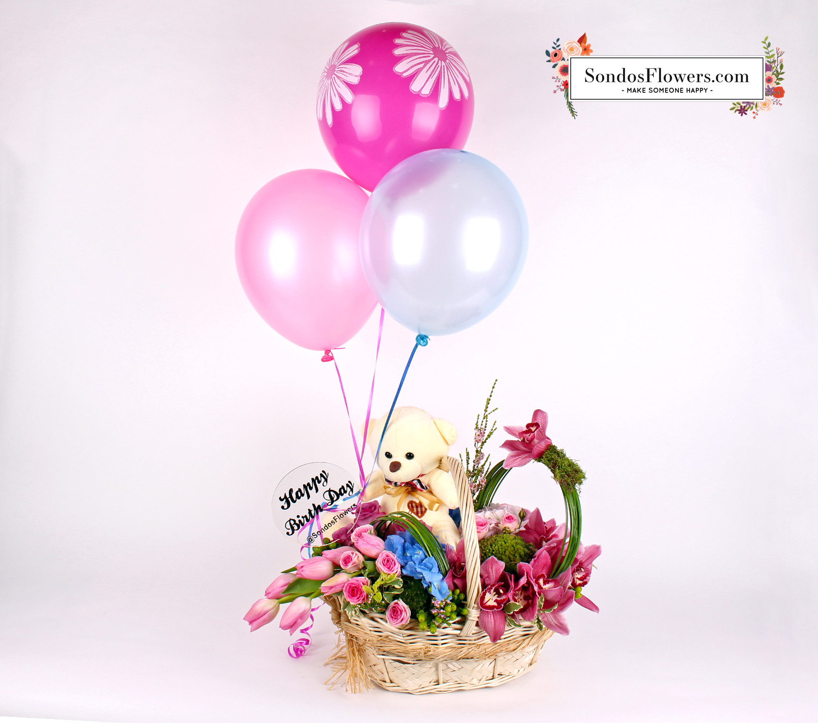 Birthday Wish Send Fresh Flowers Gifts Online Kuwait Sondos Flowers
