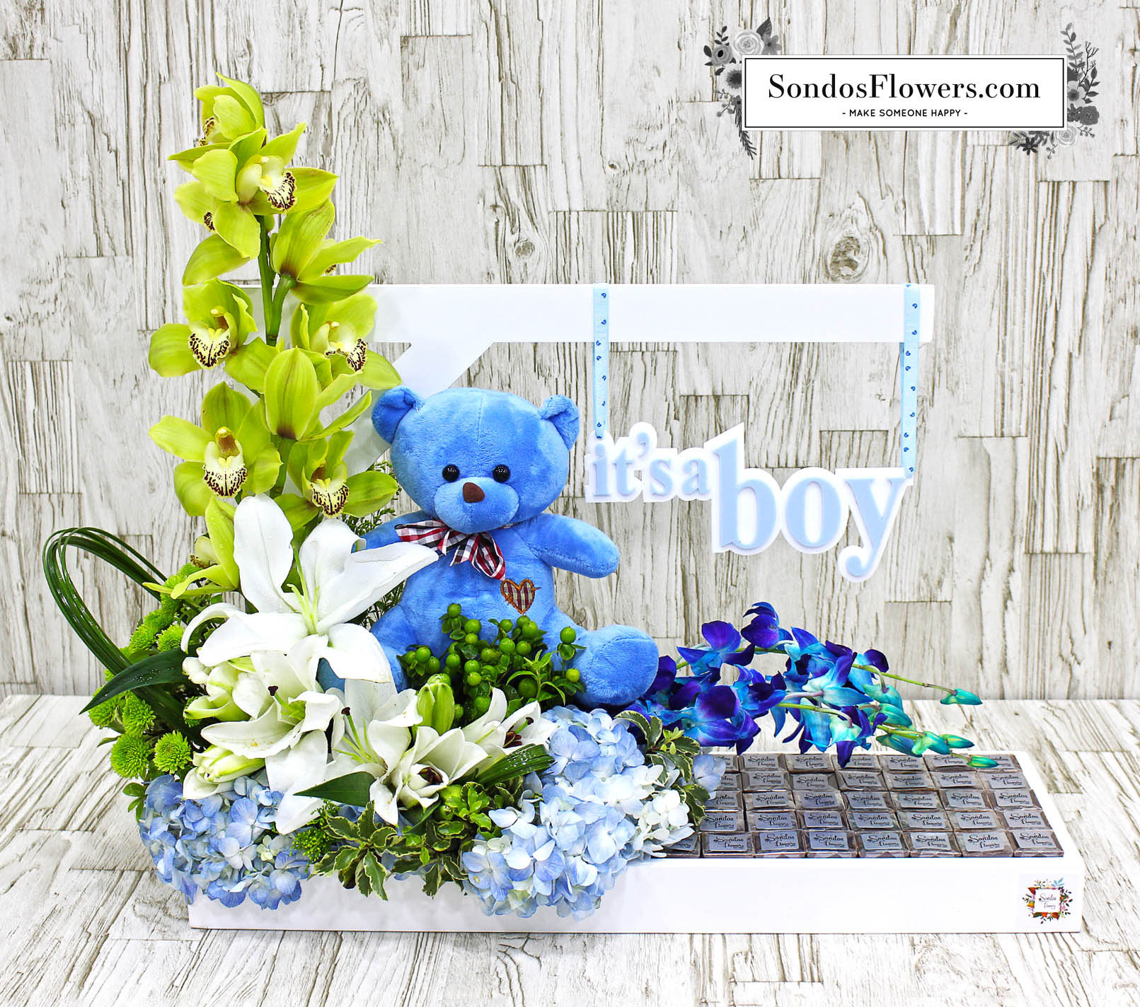 Baby Gift Kuwait : Baby mine its a boy send fresh flowers gifts