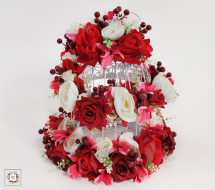 Red Cage (Artificial Flowers)