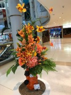 Orange in Vase (Artificial Flowers)